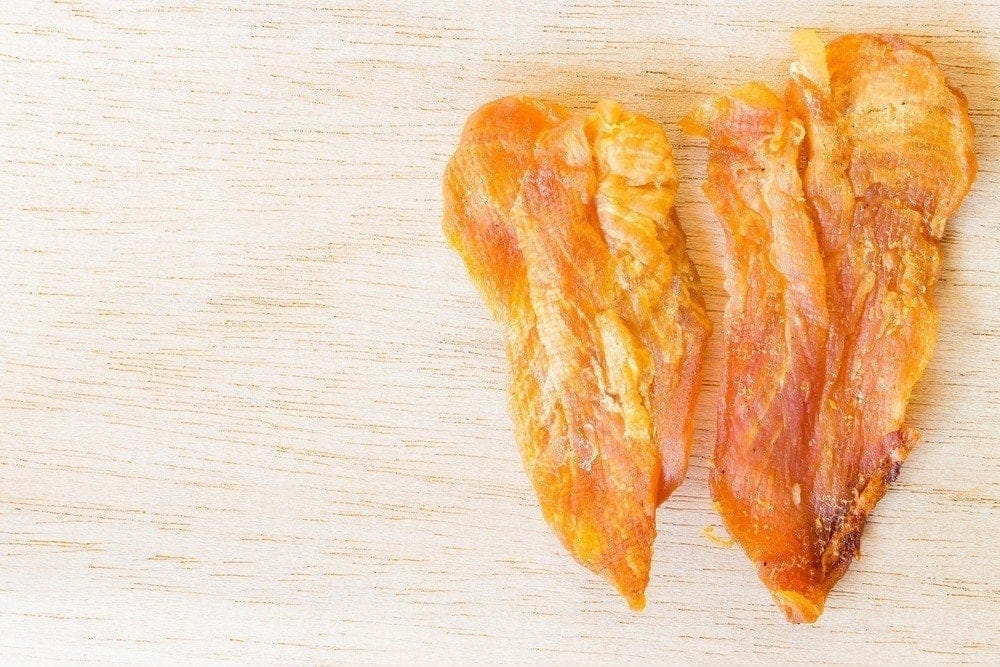 Easy Chicken Jerky Treats for dogs
