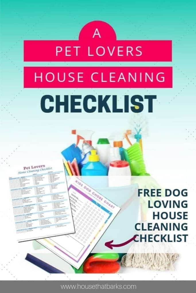 Pet lovers House cleaning checklist