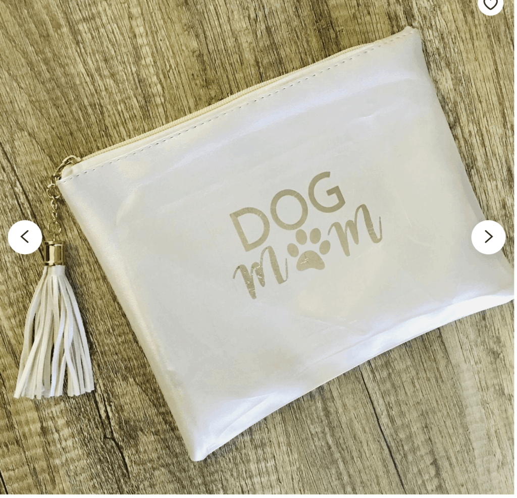 Dog Mom Makeup Pouch