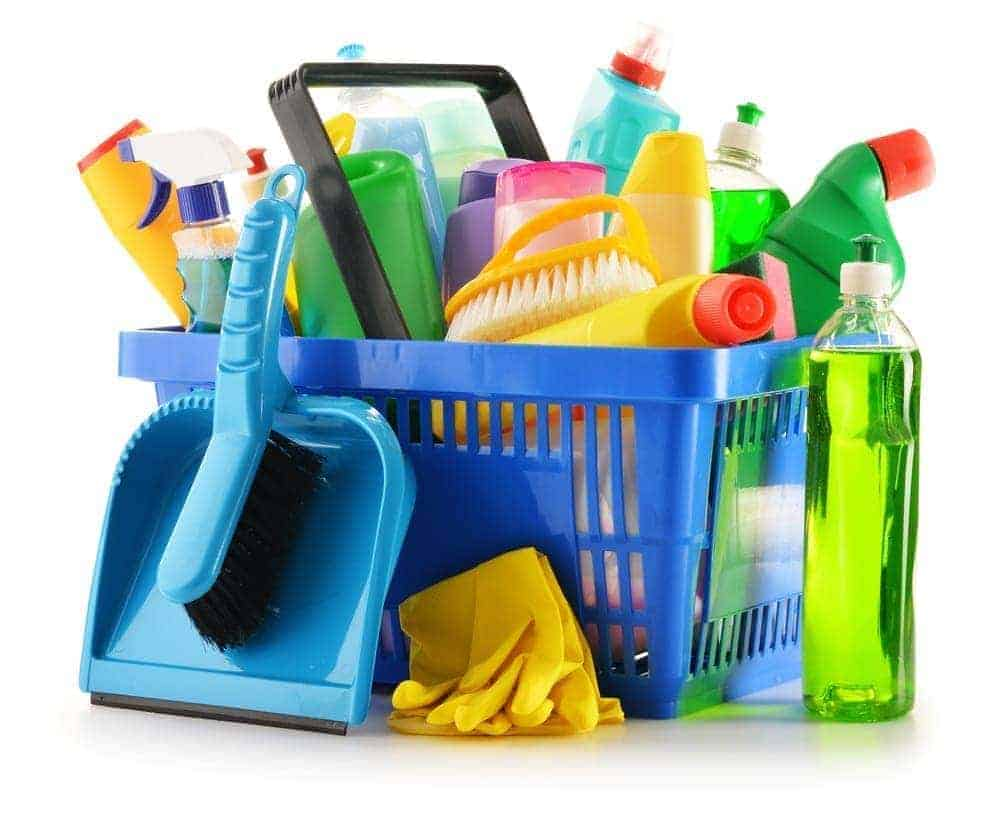Cleaning Supplies to keep house clean with dog hair